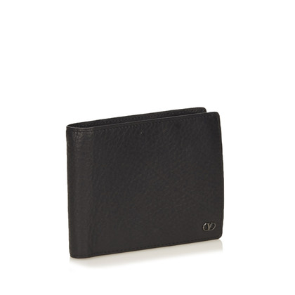 Valentino Textured Leather Bifold Wallet