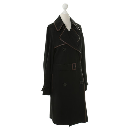 Hermès Trench coat with leather piping