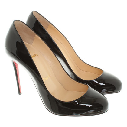 Christian Louboutin pumps in zwart lakleer