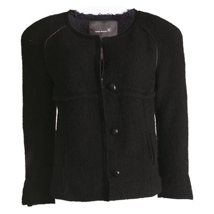 Isabel Marant zwarte boucle jas