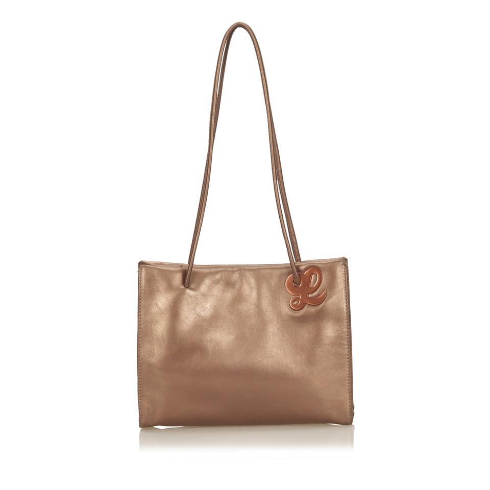 Loewe Metallic Leder Handtasche