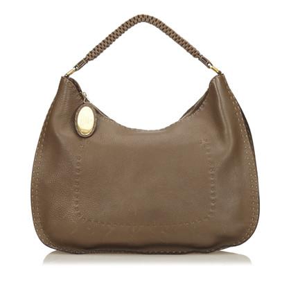 Fendi Leather Selleria Shoulder Bag