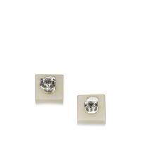 Chanel Plastic CC Tile Earrings
