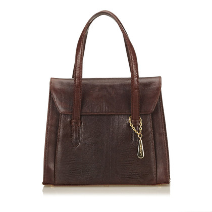 Lancel Embossed Leather Handbag