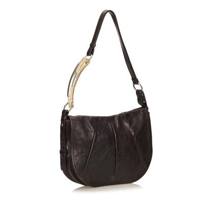Yves Saint Laurent Leather Mombasa Shoulder Bag