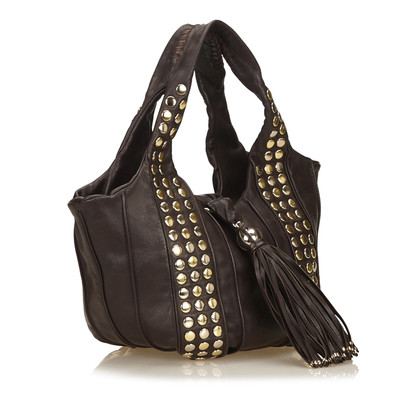 Lancel Studded Leather Tote
