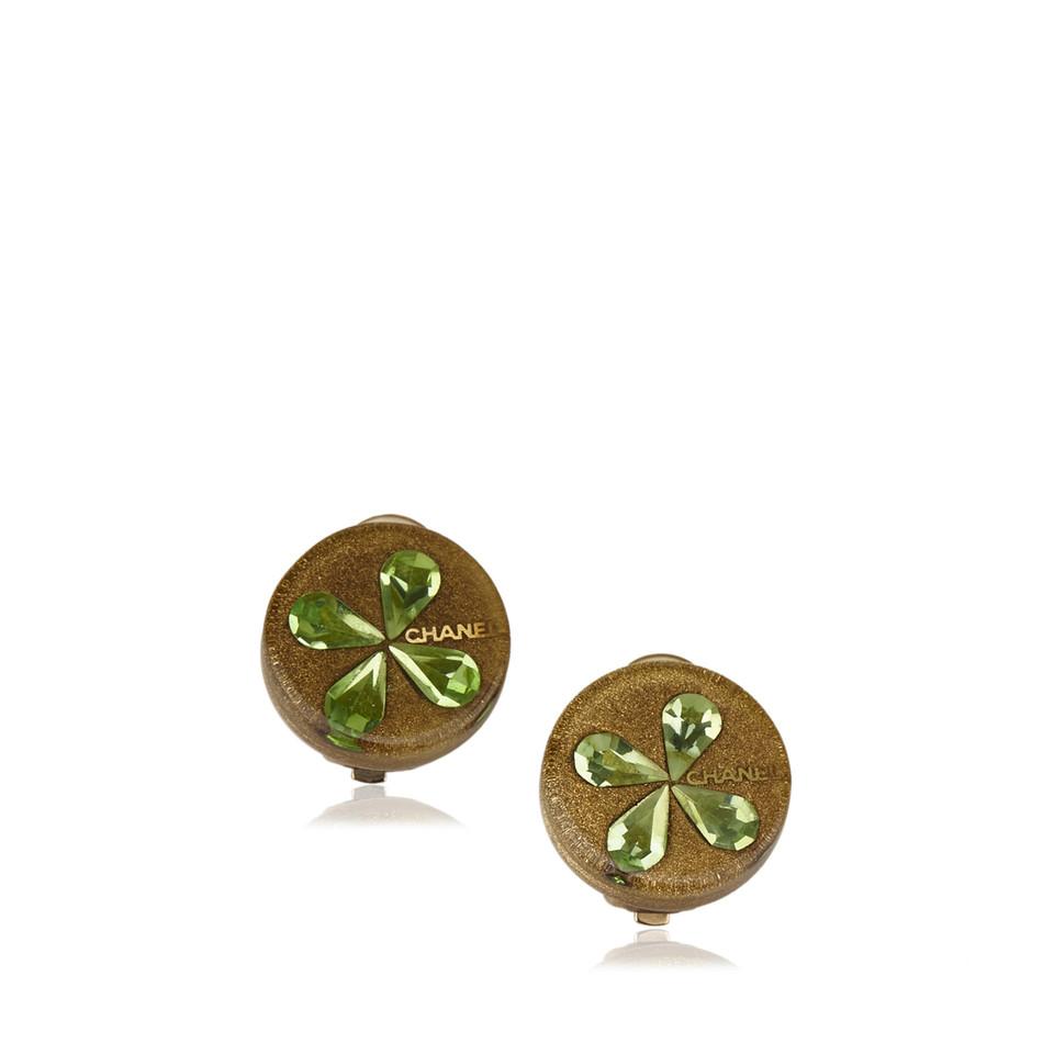Chanel Enamel Flower Earrings