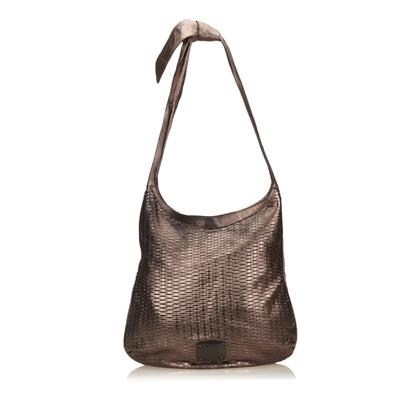Jimmy Choo Pelle metallica tessuta Shoulder bag