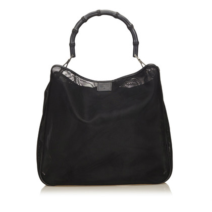Gucci Mesh Bamboo Shoulder Bag