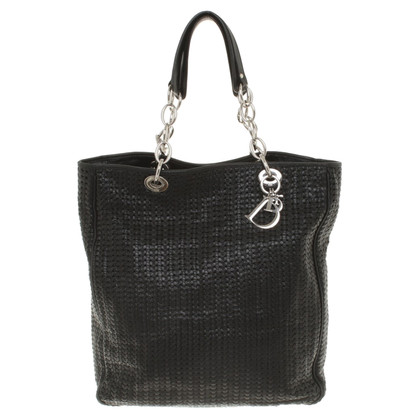 Christian Dior Tote Bag met basketweave