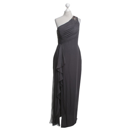 Marchesa Silk evening dress in grey