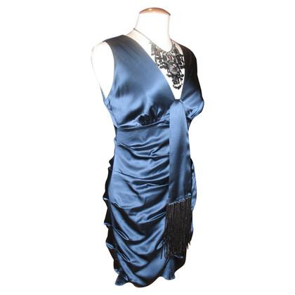 Hale Bob Blauwe zijden jurk van Hale Bob