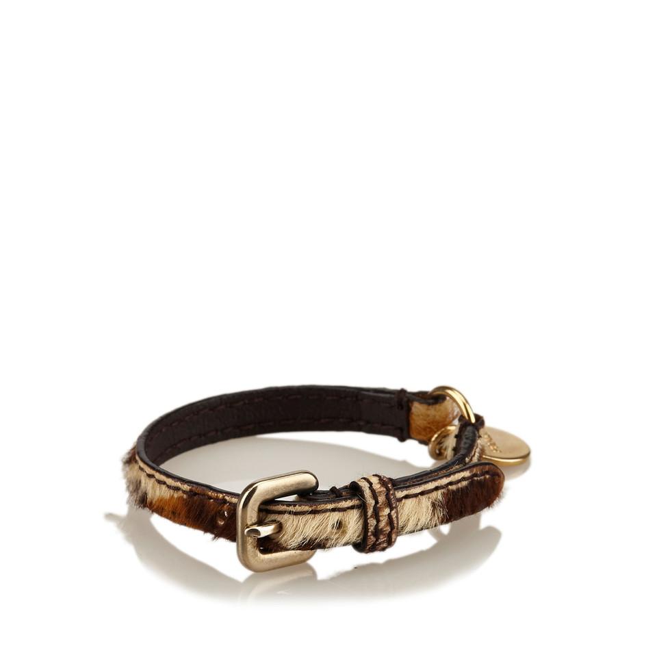 Prada Leopard Print Pony Hair Bracelet
