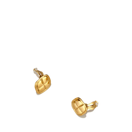 Chanel Gold-Tone Clip-On Ohrringe