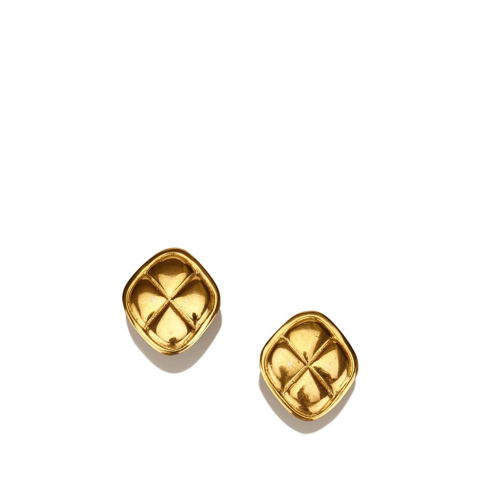 Chanel Gold-Tone Clip-On Earrings