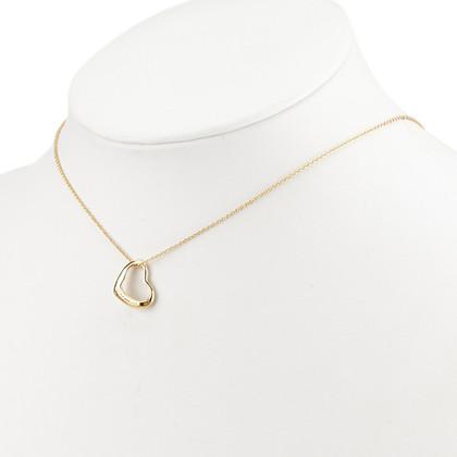 Tiffany & Co. 18K Pendentif coeur ouvert collier