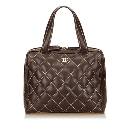 Chanel A6b36061 Leren Surpique Handle tas