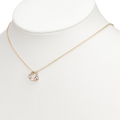 Tiffany & Co. 18K Open Hart Hanger Ketting