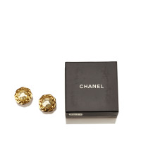 Chanel Faux Pearl Gold-Tone Clip-On Earrings