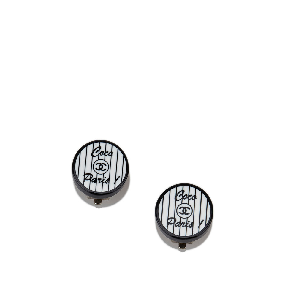 Chanel Coco Paris PVC Clip-On Earrings