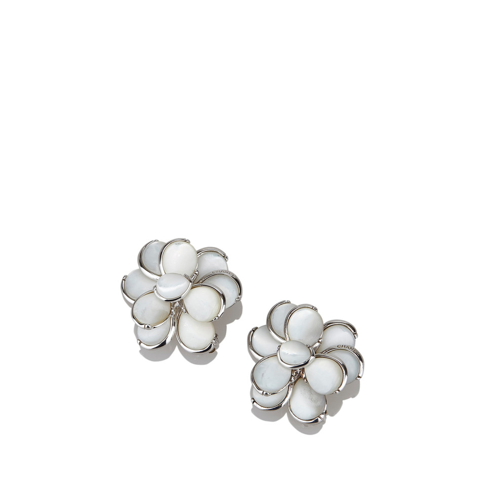 Chanel Shell Camellia Earrings