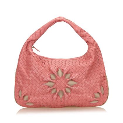 Bottega Veneta Leather Flower Intrecciato Handbag