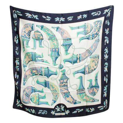 Hermès Zijden sjaal met motief druk