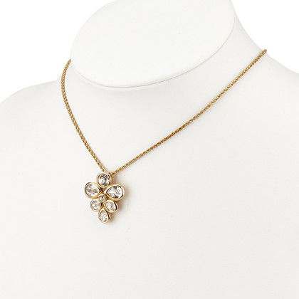 Christian Dior Rhinestone Studded Pendant Necklace