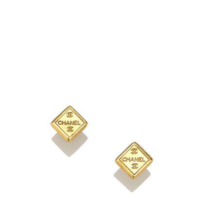 Chanel Orecchini Gold-Tone CC