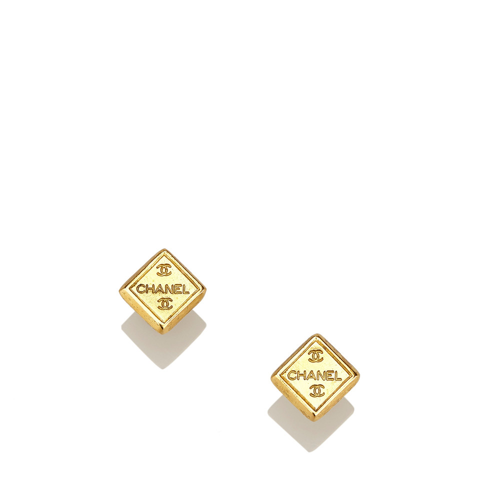 Chanel Gold-Tone CC Earrings