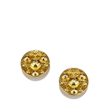 Céline Gold-Tone Clip-On Earrings