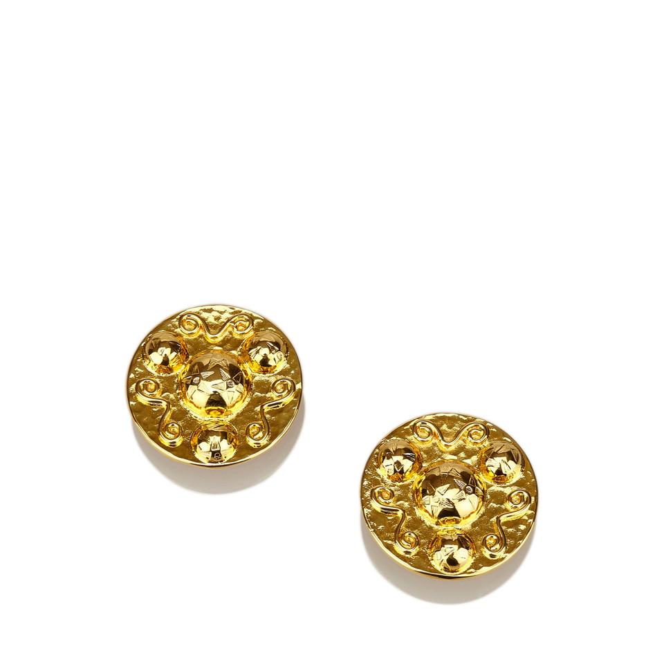 Céline Gold-Tone Clip-On Earrings