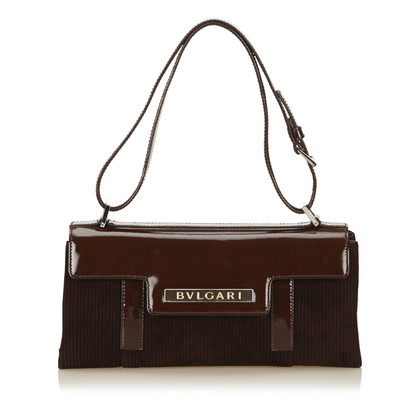 Bulgari Suede Shoulder Bag