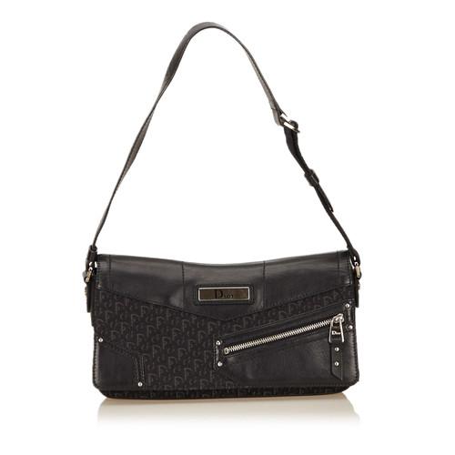 Christian Dior Jacquard Diorissimo Shoulder Bag - Second Hand ... 554281244ab4d