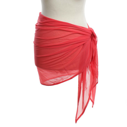 Eres Handdoek in Coral Red