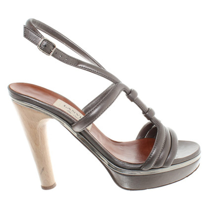 Lanvin Silver colored sandals