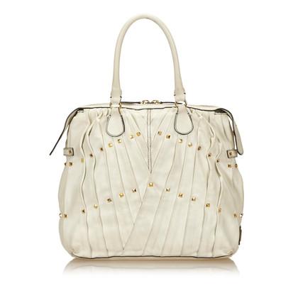 Valentino Pleated Leather Handbag