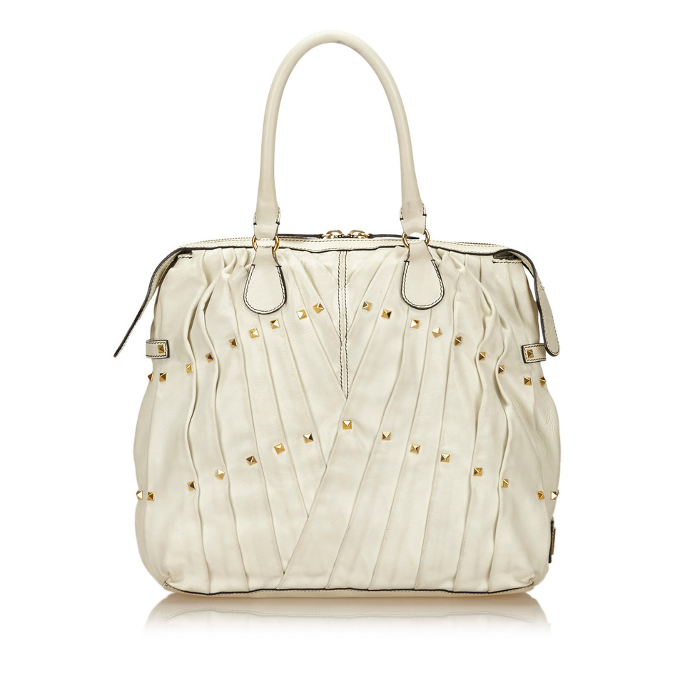 Valentino Pleated Leather Handbag