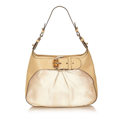 Gucci Python Bamboo Shoulder Bag