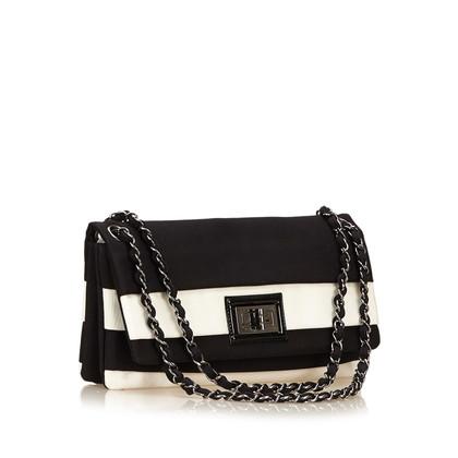 Chanel Gestreept Nylon Reissue Flap
