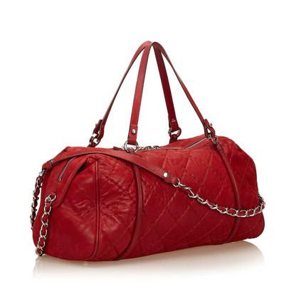 Chanel Quilted Metallic Leather Surpique Shoulder Bag