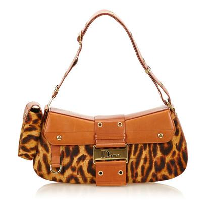 Christian Dior Leopard Ponyhair Shoulder tas