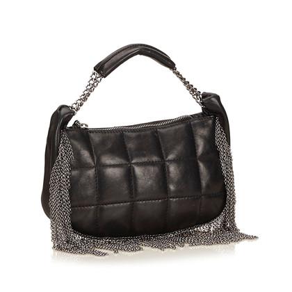 Chanel Chain Fringed Lambskin Handbag