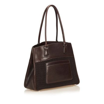 Hermès Leather Trim Tote Bag