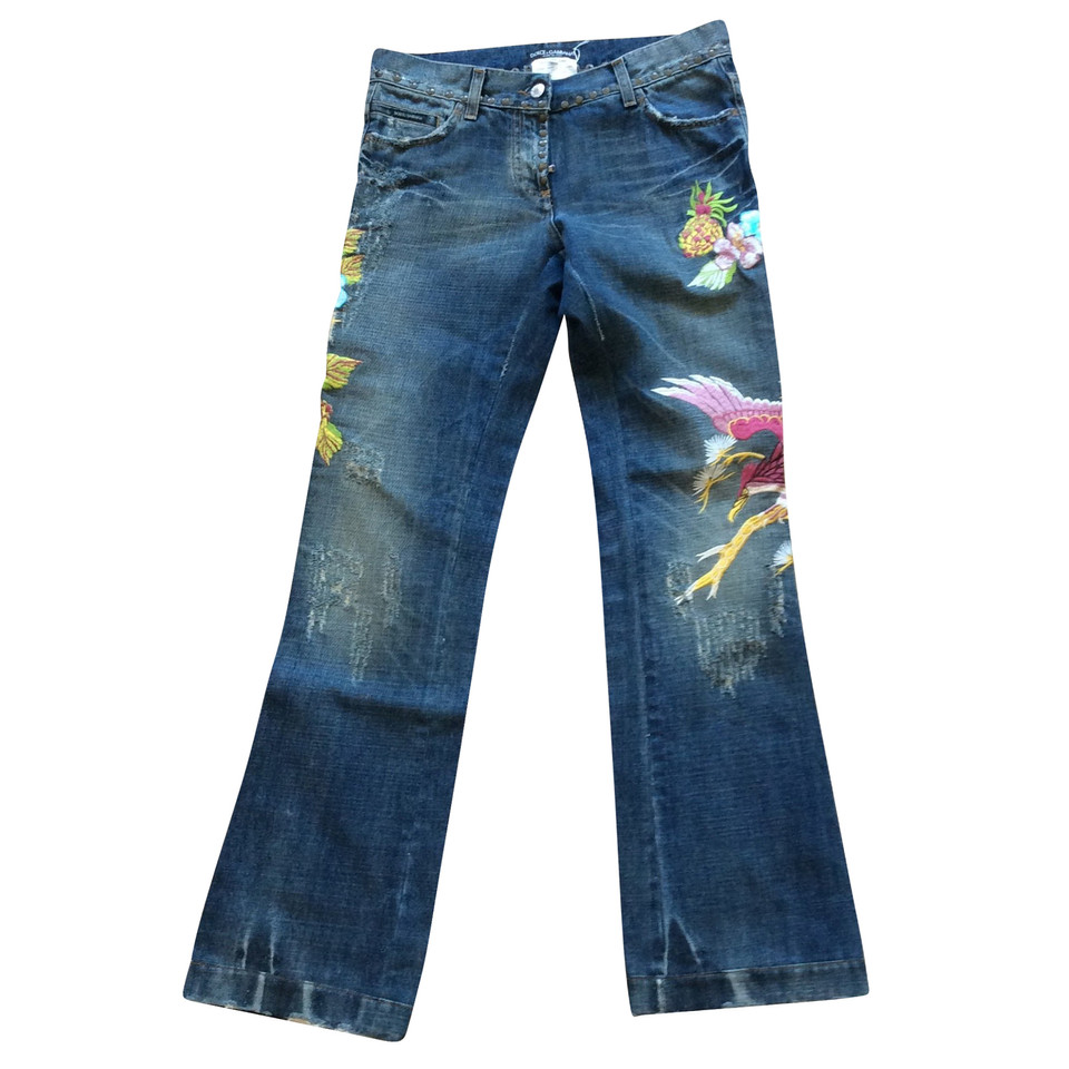 D&G Jeans with embroidery