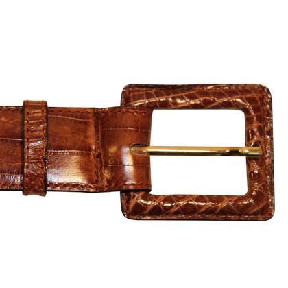 Chanel Crocodile leather belt