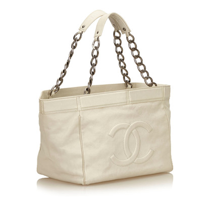 Chanel Leather Chain Tote