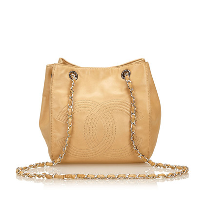 Chanel Leren Chain Shoulder tas