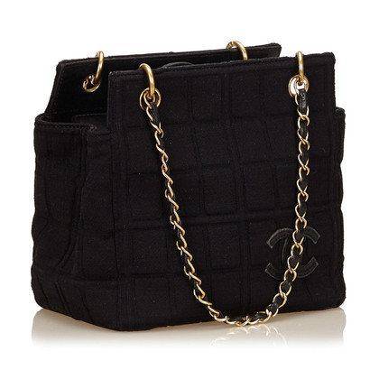 Chanel Borsa in cotone Choco Bar