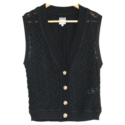 Moschino Gebreid vest in zwart
